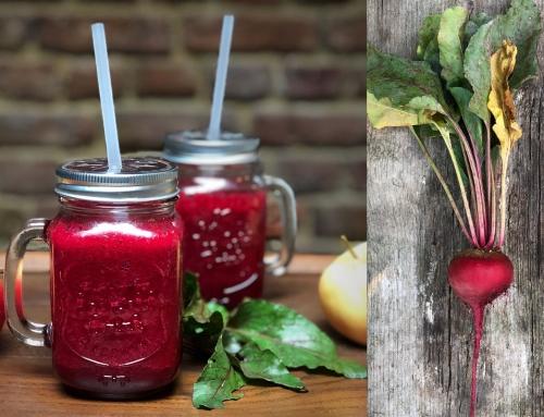Rode bieten smoothie met appel en kaneel