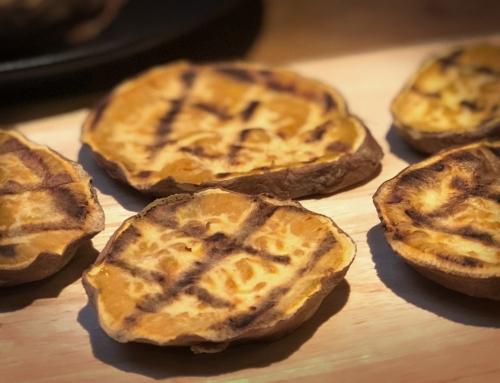 Zoete aardappel toast als gezonde boterham